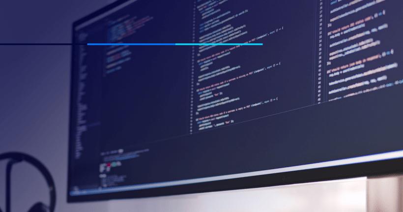 tela de computador com uma programação web
