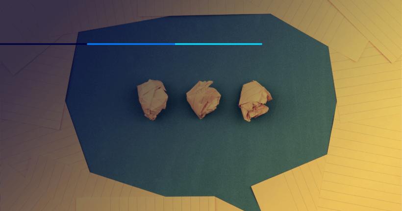 imagem de balão de fala representando a comunicação clara e objetiva