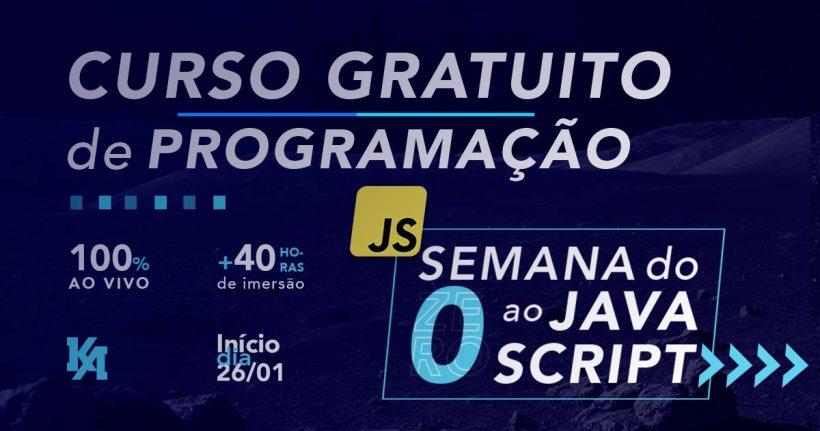 Curso gratuito de JavaScript com certificado: Kenzie Academy lança Semana do Zero ao JavaScript